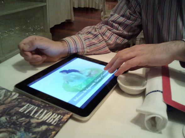 Menú digital del restaurante bilbaíno