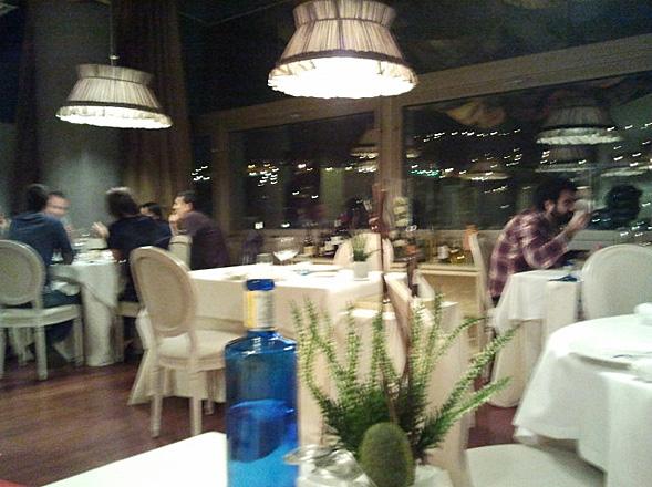 interior del restaurante de estrella michelin