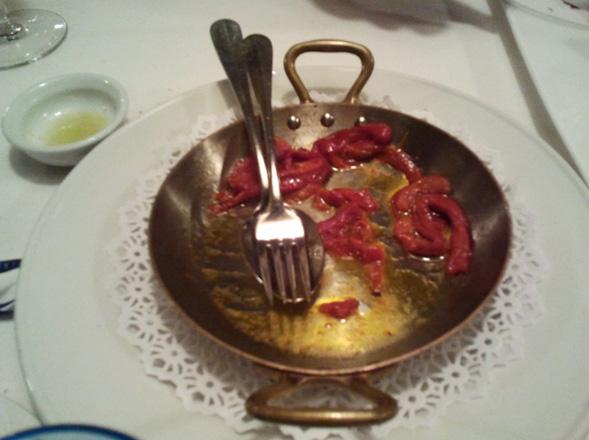 plato del restaurante de canales en bilbao