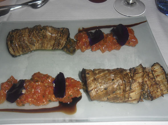 plato del restaurante en el casco vieno de bilbao